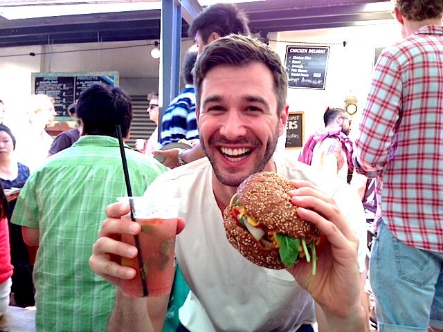 Samstags auf dem Old Biscuit Mill Market: Ich liebe einen guten Burger.
